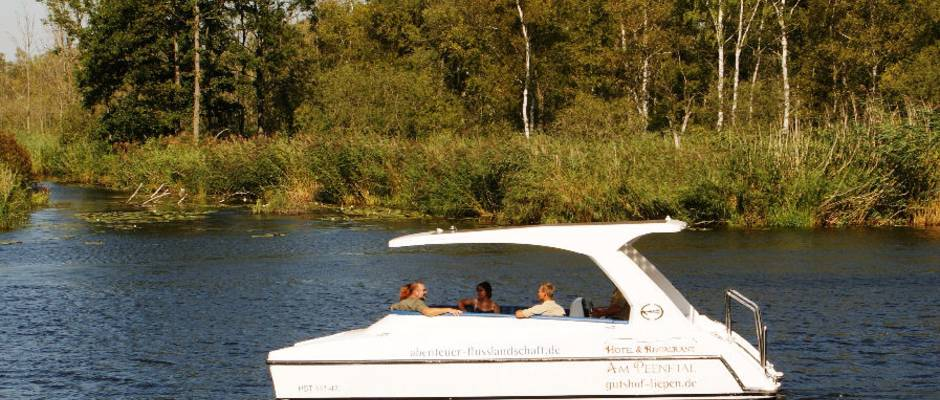 Peene safari in a solar boat from/to Anklam